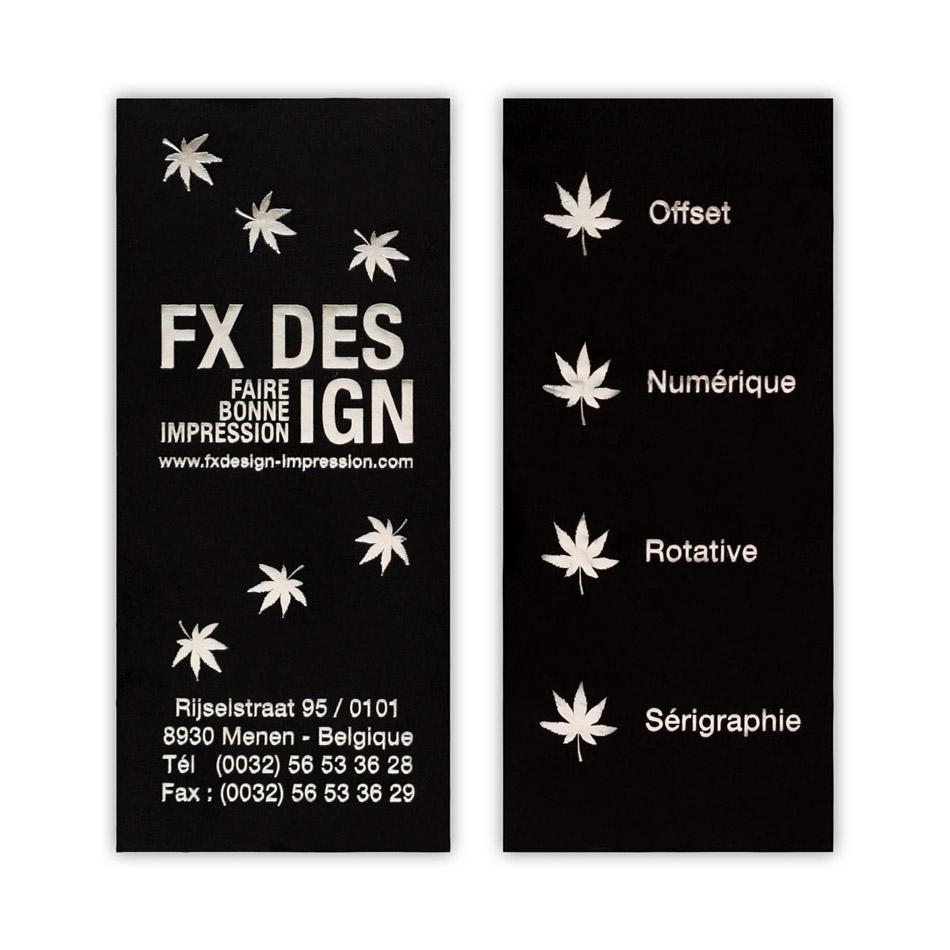 carte de visite argent  u00e0 chaud fx design